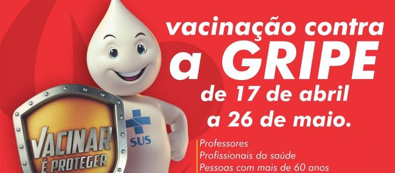 Campanha de vacinação contra a gripe vai até 26 de maio