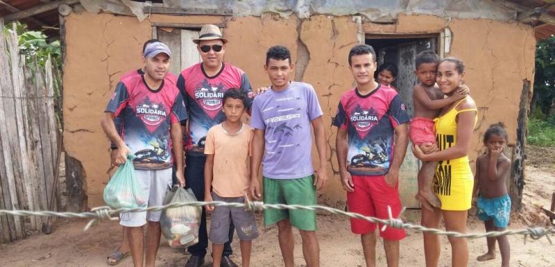 Cestas Básicas arrecadadas na Trilha Solidária chegam às famílias carentes