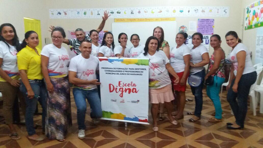 Primeiras ações do Programa Escola Digna em Junco do Maranhão